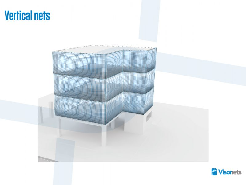Protective net – Vertical net system – VISORNETS